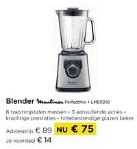 Blender moulinex perfectmix + lm811d10-Moulinex