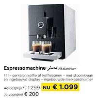 Espressomachine jura a9 aluminium-Jura