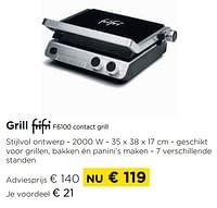 Grill frifri f6100 contact grill-FriFri