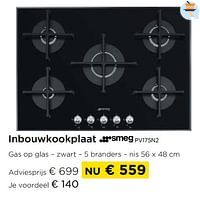 Inbouwkookplaat smeg pv175n2-Smeg