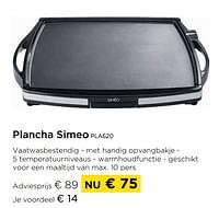 Plancha simeo pla620-Simeo