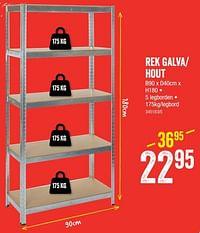 Rek galva- hout 5 legborden-Huismerk - HandyHome