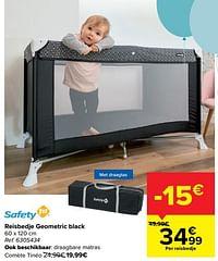 Reisbedje geometric black-Safety 1st