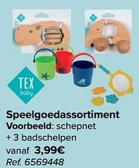 Schepnet + 3 badschelpen-Tex Baby