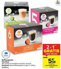 Koffiecapsules lungo-Huismerk - Carrefour