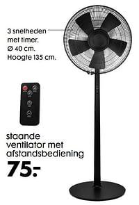 Staande ventilator met afstandsbediening-Huismerk - Hema
