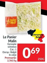 Le panier malin geraspte wittekool-Le Panier Malin