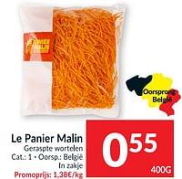 Le panier malin geraspte wortelen-Le Panier Malin