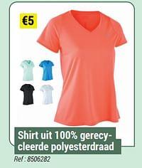 Shirt uit 100% gerecycleerde polyesterdraad-Huismerk - Decathlon