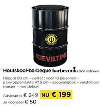 Houtskool-barbeque barbecook edson red devils-Barbecook