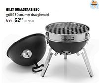 Billy draagbare bbq-Barbecook