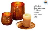 Mumbai kaarsenschaal-Huismerk - Casa