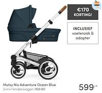 Mutsy nio adventure ocean blue 2-in-1 kinderwagen-Mutsy