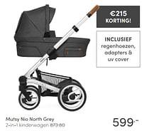 Mutsy nio north grey 2-in-1 kinderwagen-Mutsy
