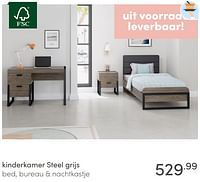Kinderkamer steel grijs-Huismerk - Baby & Tiener Megastore
