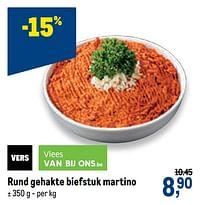 Rund gehakte biefstuk martino-Huismerk - Makro
