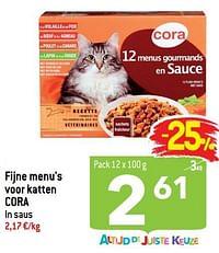 Fijne menu`s voor katten cora-Huismerk - Match