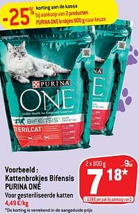 Kattenbrokjes bifensis purina one-Purina