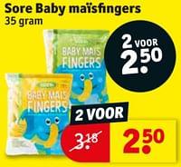 Sore baby maïsfingers-Sore