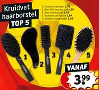 Haarborstel ovaal-Huismerk - Kruidvat