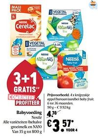 Knijpzakje appel-banaan-aardbei baby fruit-Nestlé