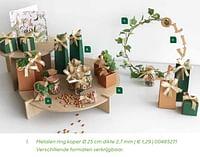 Metalen ring koper-Huismerk - Ava