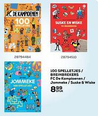 100 spelletjes - breinbrekers fc de kampioenen - jommeke - suske + wiske-Huismerk - Supra Bazar