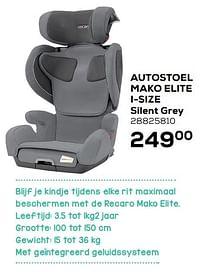 Autostoel mako elite i-size silent grey-Recaro