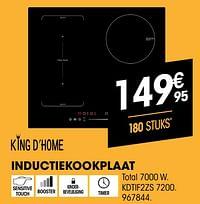 King d`home inductiekookplaat kdtif2zs 7200-King d