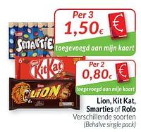 Lion, kit kat, smarties of rolo-Nestlé