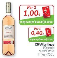 Igp atlantique l`océade merlot rosé-Rosé wijnen