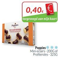 Poppies mini-eclairs of profiteroles-Poppies