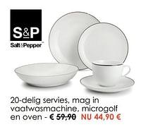 20-delig servies, mag in vaatwasmachine, microgolf en oven-Salt & Pepper