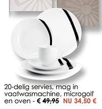 20-delig servies, mag in vaatwasmachine, microgolf en oven-Huismerk - Krea - Colifac