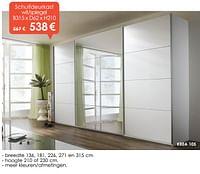 Schuifdeurkast wit-spiegel-Huismerk - Krea - Colifac