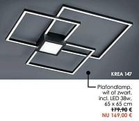 Plafondlamp, wit of zwart, led 38w-Huismerk - Krea - Colifac