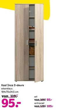 Kast inca 2-deurs-Huismerk - Leen Bakker