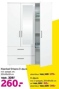 Kleerkast orleans 3-deurs-Huismerk - Leen Bakker