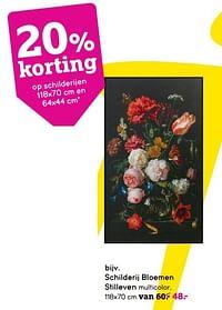 Schilderij bloemen stilleven-Huismerk - Leen Bakker