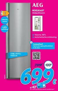 Aeg koelkast rkb639e4dx-AEG