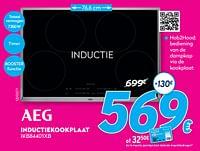 Aeg inductiekookplaat ikb84401xb-AEG