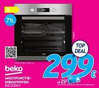 Beko multifunctieinbouwoven bie22300x-Beko