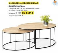 Set salontafels ovaal-Huismerk - Molecule