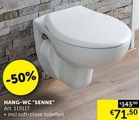 Hang-wc senne-Huismerk - Zelfbouwmarkt