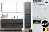 Badkamermeubel dotan donker eik wastafelkast-Huismerk - Zelfbouwmarkt