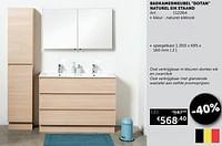 Badkamermeubel dotan naturel eik staand spiegelkast-Mio Bagno
