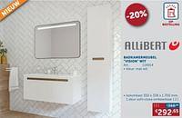Badkamermeubel vision wit kolomkast 1 deur soft-close omkeerbaar-Allibert