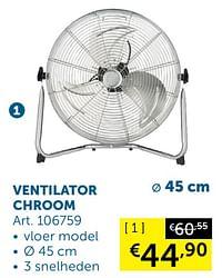 Ventilator chroom-Huismerk - Zelfbouwmarkt