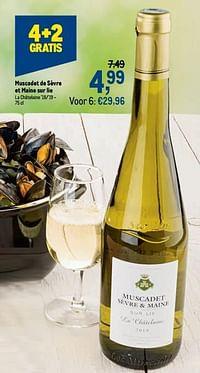 Muscadet de sèvre et maine sur lie la châtelaine `18-`19-Witte wijnen