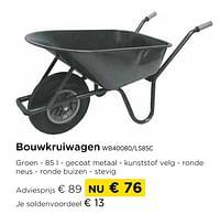 Bouwkruiwagen wb40080-ls85c-Huismerk - Molecule